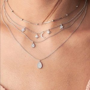 🌟Moon star water drop layer necklace🌟